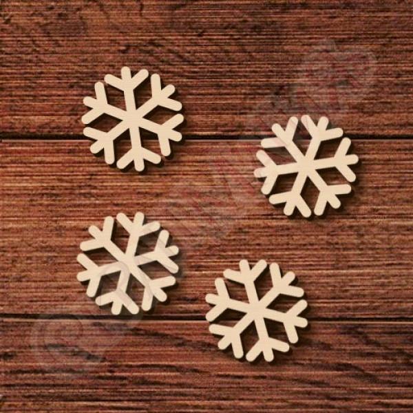"Заготовка из дерева ""Снежинка мал."" диаметр 26 мм 1 шт. (БФ-065)"