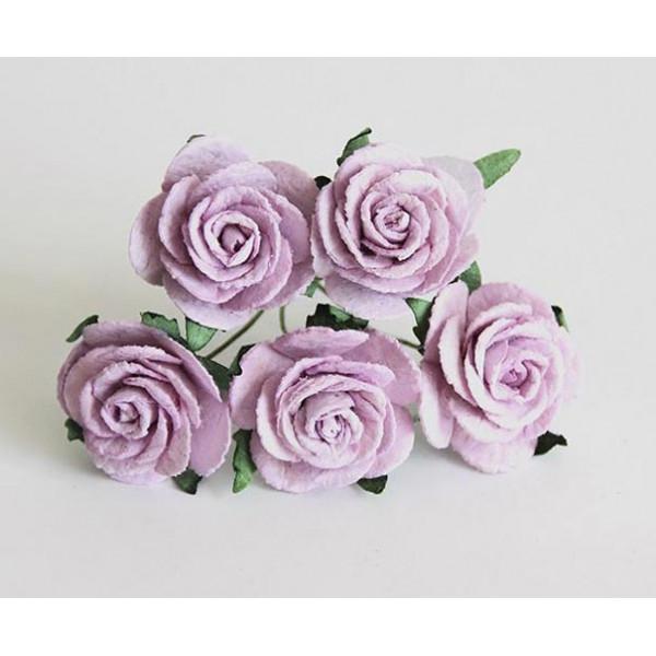 Midi розы 2,5-3 см - Св.сиреневые 5шт.  арт188