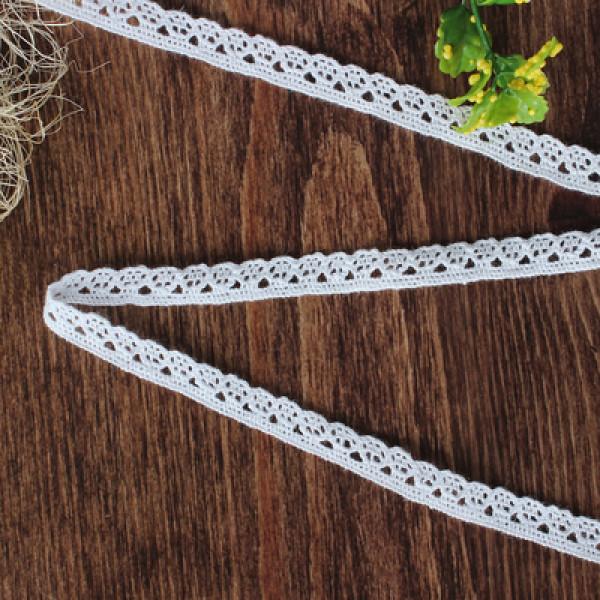 Кружево вязаное, 10 мм ×  1 м, цвет белый 1354142