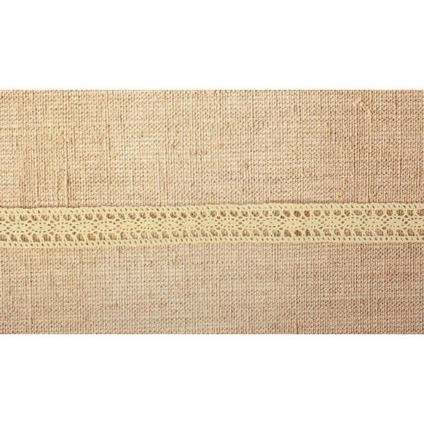 Кружево вязаное овал с обвязкой, 2,3см 1м бежевое 1354158