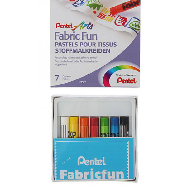 Пастель для ткани Pentel FabricFun Pastels, 7 цветов, 1416822