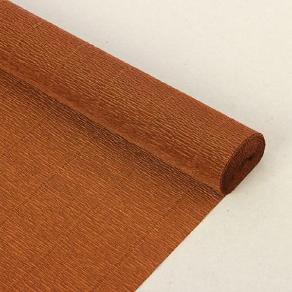 Бумага гофриров Италия 968 коричневая 1/2рул  50смх1.25м 1524096