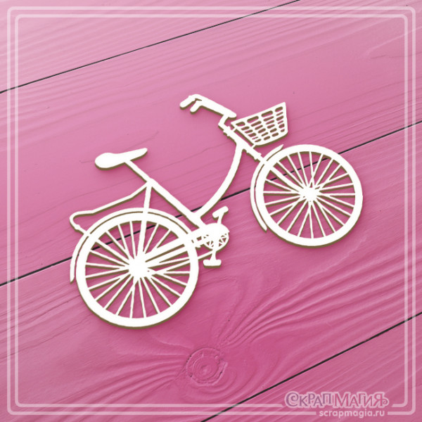"""Чипборд """"Велосипед с корзинкой"""" 102х70 мм  ЧБ-1689"""