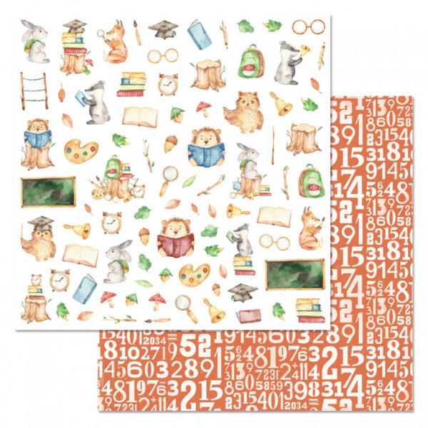 "Бумага ""Первоклашка. Картинки"" (ScrapMania) 30,5 см 200519"