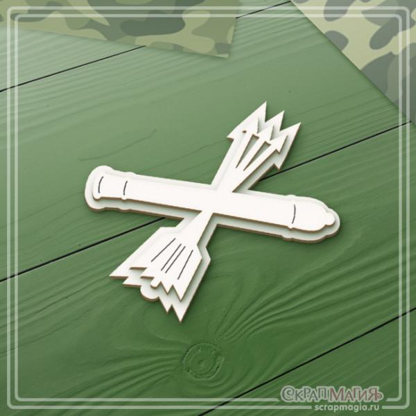 """3D чипборд """"Войска ПВО эмблема"""" 61х44 мм ЧБ-2124"""
