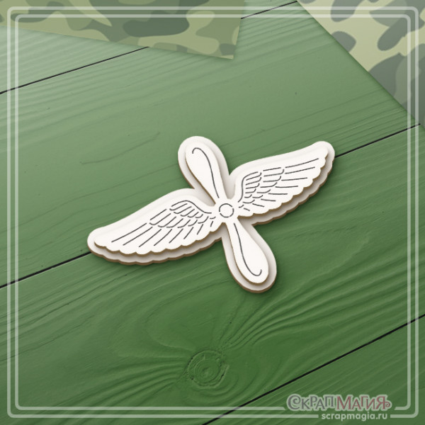 "3D чипборд ""Авиация ВВС эмблема"" 68х46 мм ЧБ-2125"