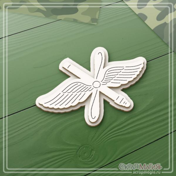 """ОПТ 3D чипборд """"Военно-воздушные силы эмблема"""" ЧБ-2126"""