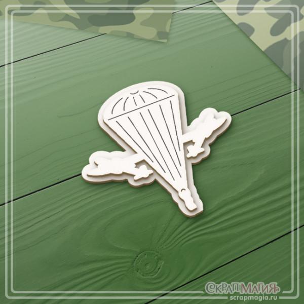 """3D чипборд """"Воздушно-десантные войска эмблема"""" 52х49 мм ЧБ-2128"""