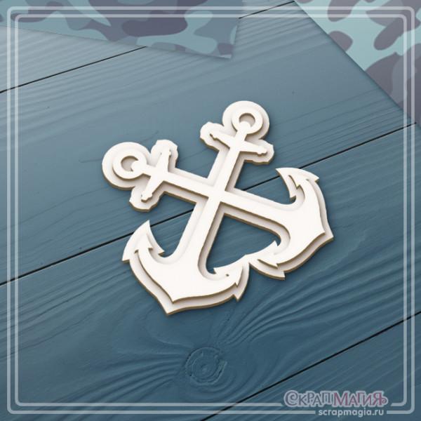"""3D чипборд """"Военно-морской флот эмблема"""" 52х47 мм ЧБ-2131"""