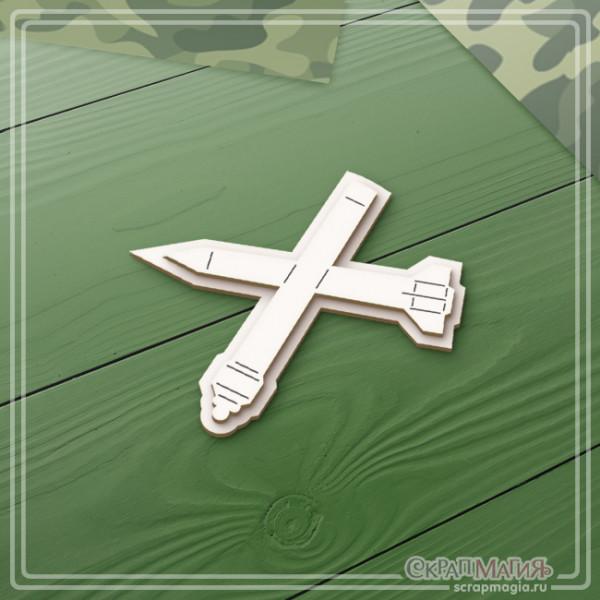 """3D чипборд """"Зенитно-ракетные войска эмблема"""" ЧБ-2135"""