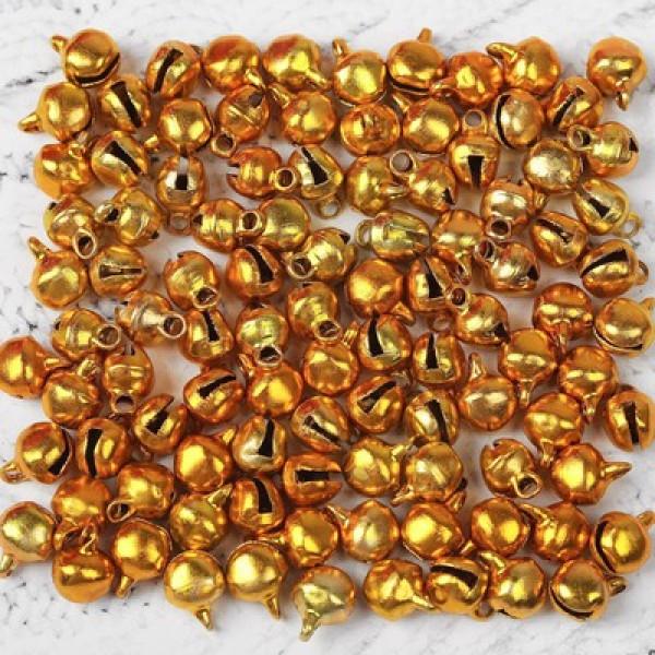 Бубенчики, 10 шт., размер 1 шт: 0,6 см, цвет золотистый 2294478