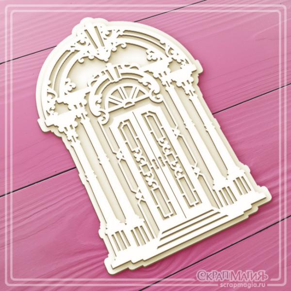 """ОПТ 3D чипборд """"Дверь в стиле барокко"""" 101х155 мм ЧБ-2377"""