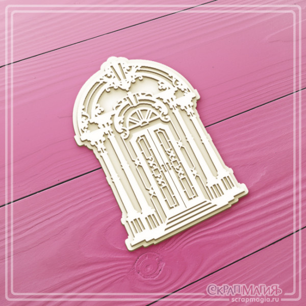 """ОПТ 3D чипборд """"Дверь в стиле барокко"""" 73х109 мм ЧБ-2378"""