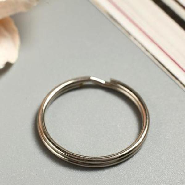 Основа для брелока кольцо металл серебро 2,5х2,5 см 2583723