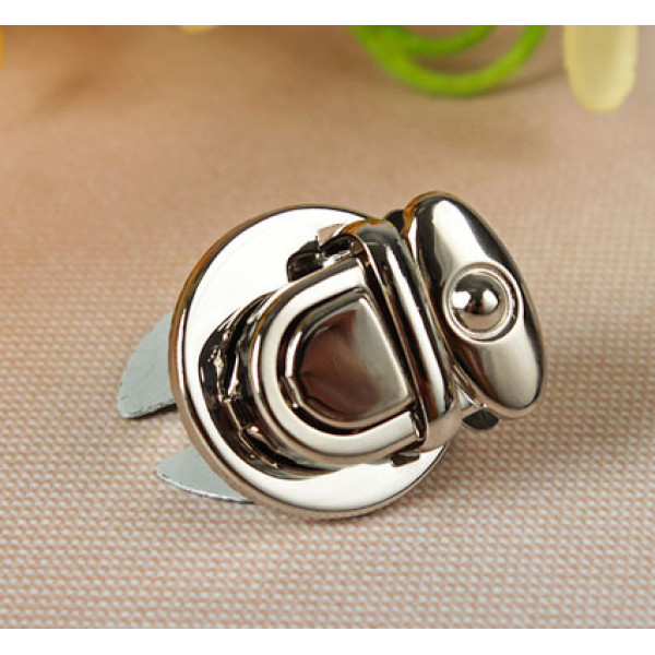 Застёжка для сумки, d2,5см, цвет серебристый 2619567