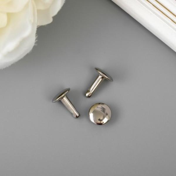 Заклёпка металлическая для крепления альбома серебро 2778395