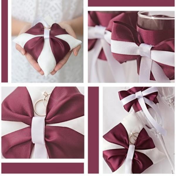 набор для шитья Подушечки для колец и бокалов «Роза любви»