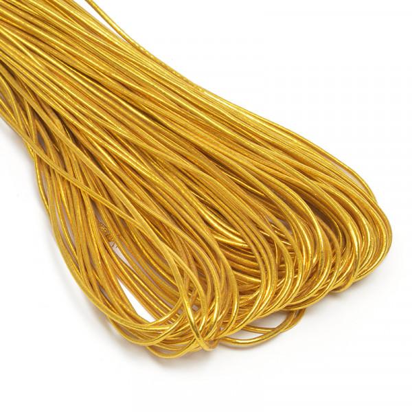 Резинка TBY шляпная (шнур круглый) цв.золото 2,5мм 1м