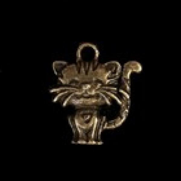 "Металл подвеска  ""Котёночек"" бронза 1,8х1,8 см 3531354"