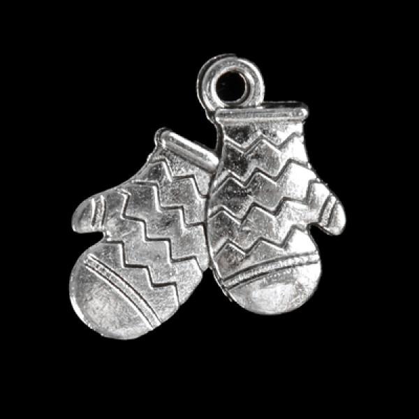 """Металл металл """"Варежки"""" серебро 1,7х1,6 см 3531369"""