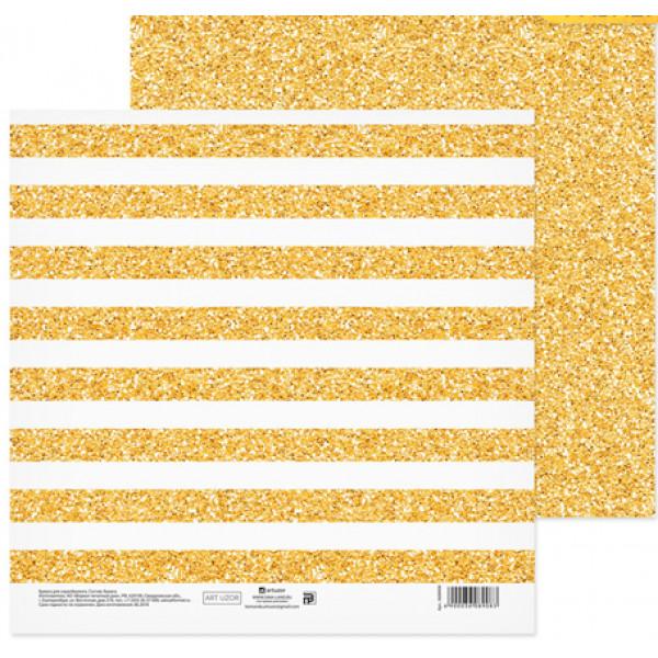 """Бумага """"Блеск золота"""" 20х20 см, 180г/м 3608908"""