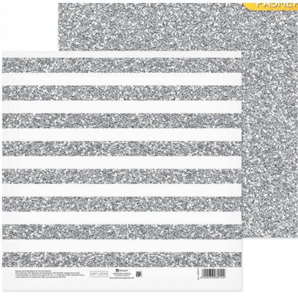 "Бумага ""Сияние серебра"" 20х20 см, 180г/м 3608914"