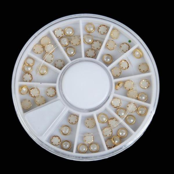 Декор «Бусины в золоте» 12ячеек 6 см 3720665