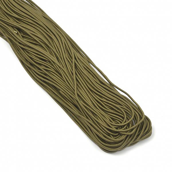 Резинка TBY шляпная (шнур круглый) цв.F328 хаки 2мм 1 м