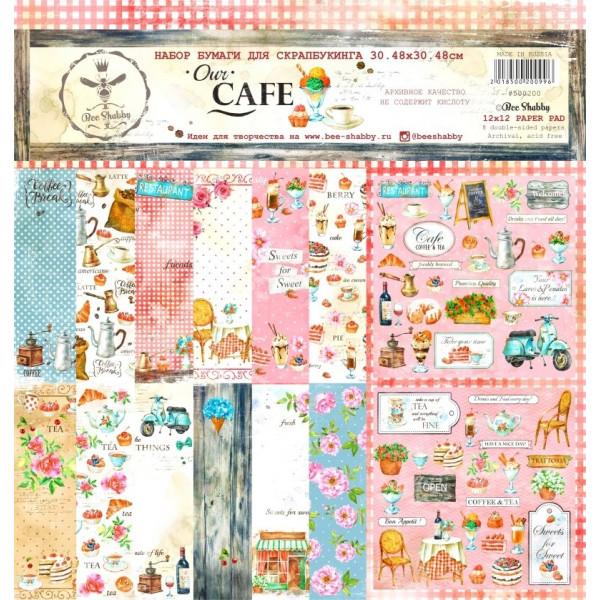 Набор бумаги для скрапбукинга Our CAFE 30,5см 8л