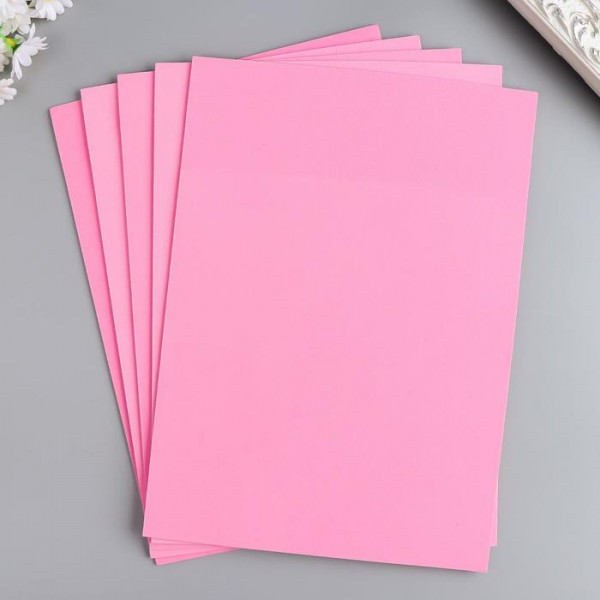 "Фоамиран ""Рукоделие"" 1мм, 210*297мм 1лист  F1-03 бледно-розовый"
