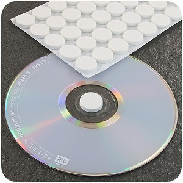 Держатель CD/DVD пенополистироловый, круглый,белый 1шт.