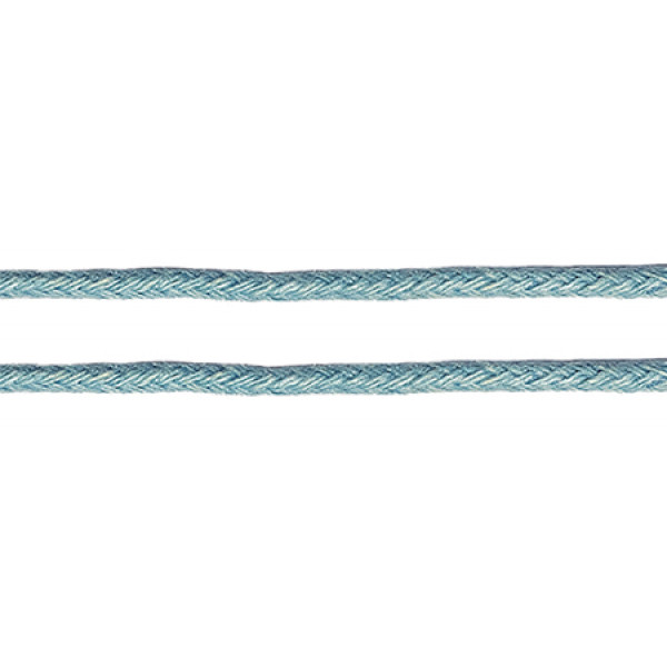Шнур вощеный 1мм, 100% хлопок цв. 168 светло-синий 1м