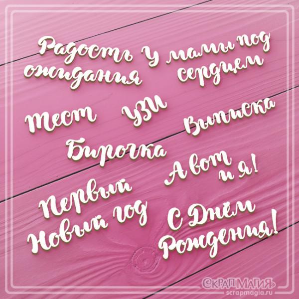 """Чипборд """"Фразы в альбом для новорожденного"""" ЧБ-920"""
