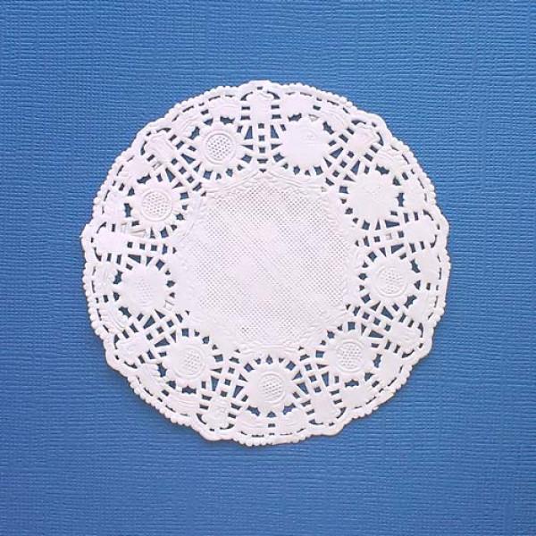 Салфетка ажурная бумажная 10 см, цветы 10 шт.
