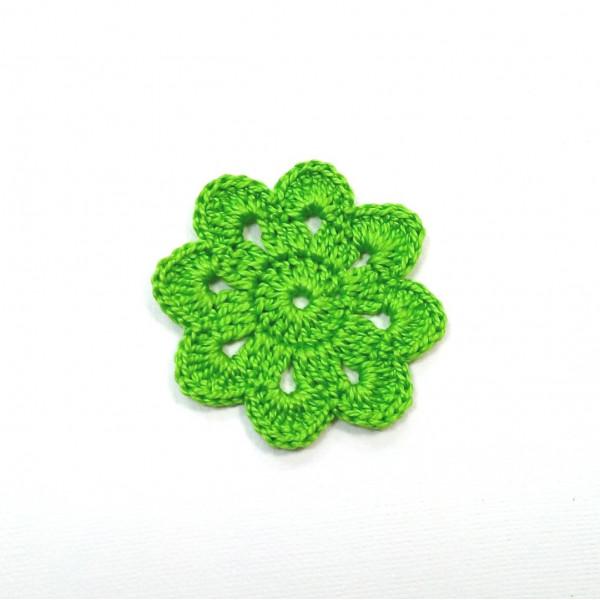 Вязанная мини-салфетка зеленая  45мм  №2319