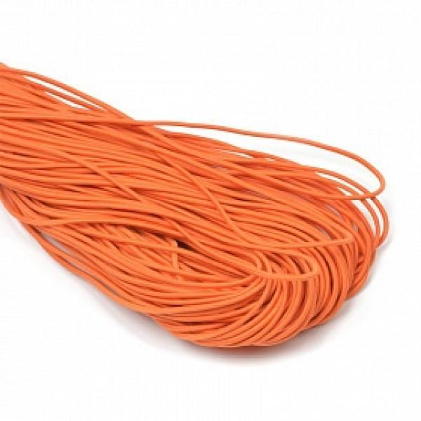 Резинка TBY шляпная (шнур круглый) цв.F157 оранжевый 2мм 1м