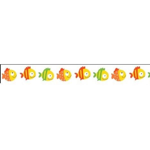 Бумажный скотч с принтом. Basik&Co. Рыбки-1 15мм*8м SCB4905010