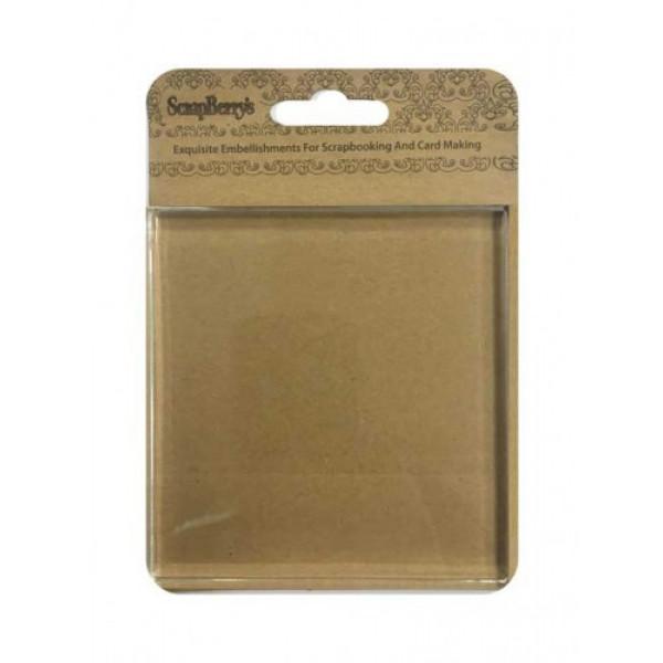 Акриловый блок для прозрачных штампов 100х100х10мм 4379689