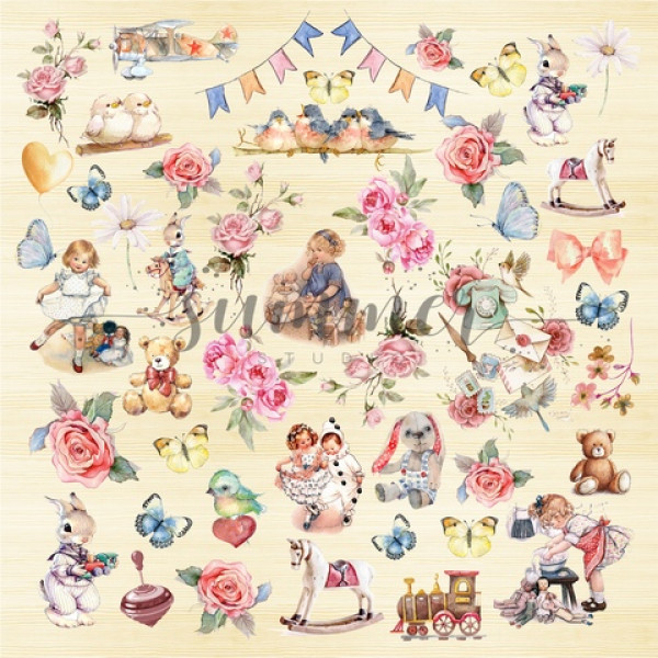 Бумага  My hunny bunny 30,5см ОUR CHILDHOOD  SS09012019-7