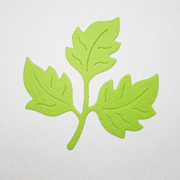 Вырубка листья боьшие   1 шт. кардсток зеленый