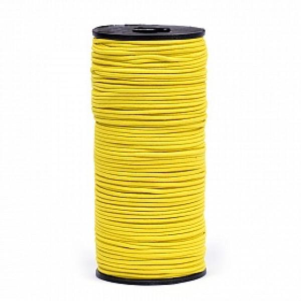 Резинка TBY шляпная (шнур круглый) цв.F110 желтый 2мм 1м