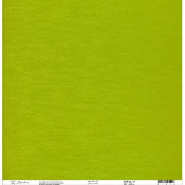 "Кардсток ""Рукоделие"" 235г/м2, 305х305мм цвет листвы BO-20"