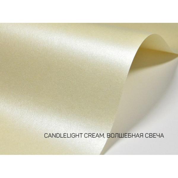 Дизайнерский картон перламутровый волшебная свеча 20х30см 1 лист