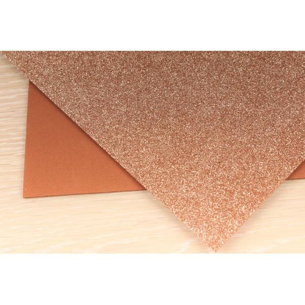 Фоамиран EVA глиттерный (светло-коричневый) 2мм 20*30см  C20/90