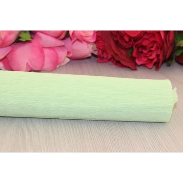Гофрированная бумага 1/2 рул нежно-зеленый 50см*1,25м S70/100