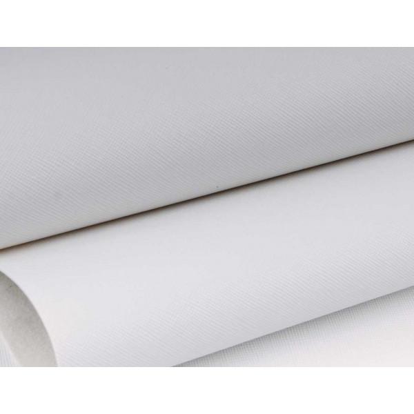 "Кожзам ""Кантри"" (белый) 30*70 см (+-2 см) B50/145"