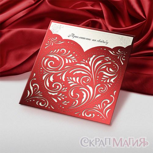 Приглашение на свадьбу со вкладышем (пр-004)