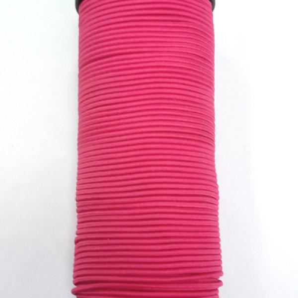 Резинка TBY шляпная (шнур круглый) цв.F145 ярко-розов 2мм 1м