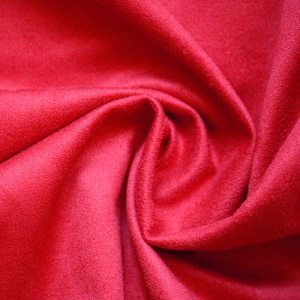 Замша на трикотажной основе красный 74х33 (+- 2 см)