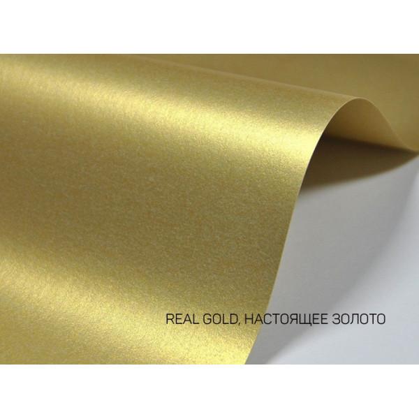 Дизайнерский картон перламутровый золото 20х30см 1 лист
